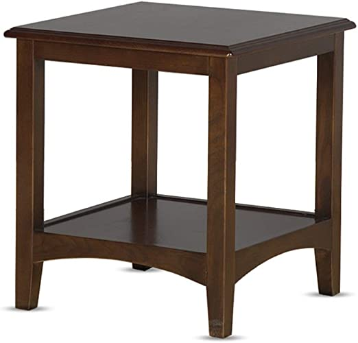Amazon Com 2 Tier Wood Small Coffee Table End Side Table Bedside