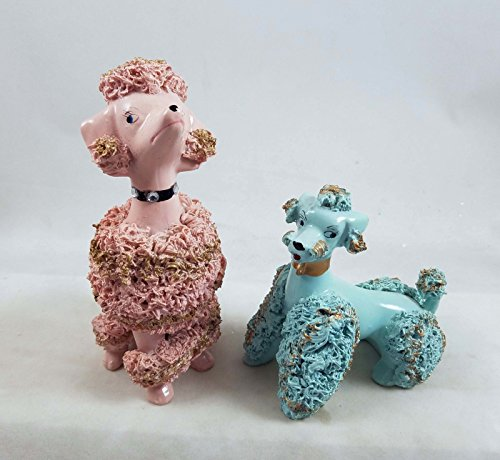 Cody Foster Kitsch Poodle Dog Figurines Set of 2 Retro 1950's reproductions New Adorable 51o3dYnWT8L