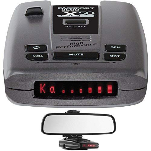 Escort Passport 8500 X50 Radar & Laser Detector with Smart Cord USB RadarMount Car Mirror Mount Bracket for Radar Detectors by Escort (Image #1)