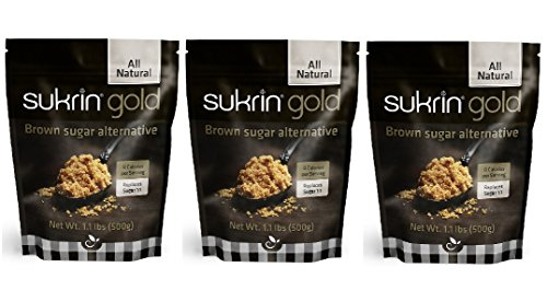 Sukrin Gold - 1.1 lb All Natural Brown Sugar Substitute - 3 Pack