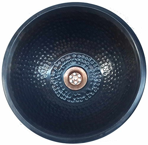Egypt gift shops Oil Rubbed Bronze Vessel Top Mounted Drop In Textured Copper Bath Sink Toilet Restoration (Classic Bronze Bowl)