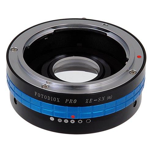 Fotodiox Pro Lens Mount Adapter - Mamiya 35mm (ZE) SLR Lens to Sony Alpha A-Mount (and Minolta AF) Mount SLR Camera Body