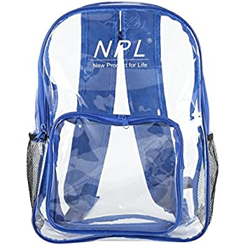 Amazon.com | Clear Transparent School Book bag/Kids
