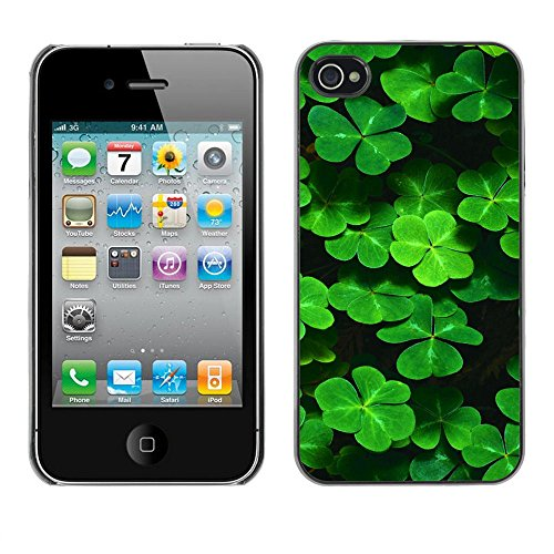 SuperStar // Refroidir image Étui rigide PC Housse de protection Hard Case Protective Cover for iPhone 4 / 4S / Clover mignon /