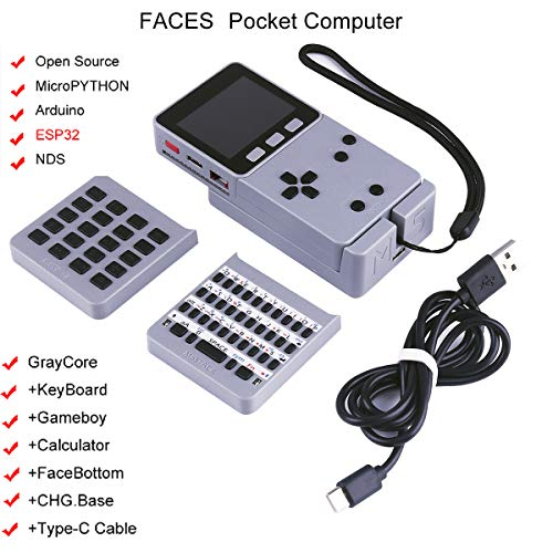 MakerFocus ESP32 Open Source Faces Pocket Computer with Keyboard/Gameboy/Calculator M5Stack Board Built-in 650mAh Battery for MicroPYTHON Arduino by MakerFocus (Image #9)