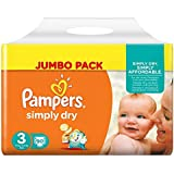 Pampers Simply Dry Midi 3 90pc(s) - diapers (Universal, Disposable diaper, Multi, Plastic bag)