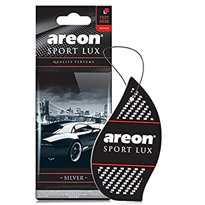 Areon Sport LUX Quality Perfume/Cologne Cardboard Car & Home Air Freshener, Silver (Pack of 3): Automotive