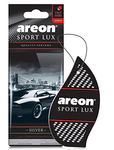 Areon Sport LUX Quality Perfume/Cologne Cardboard Car & Home Air Freshener, Silver (Pack of 12)