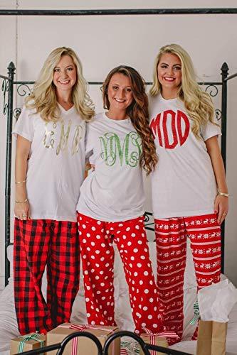 Personalized Flannel Christmas Pajamas