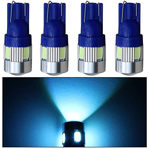 [해외]�� 양 자동차 교체 T10 W5W 168 194 12 볼트 자동차 LED 전구 렌즈 택시 마커 지붕 낮 달리기 상단 클리어런스 조명 램프 크리스탈 블루 4Pcs / shunyang Car Replacement T10 W5W 168 194 12V Car LED Light Bulb with Lens Cab Marker Roof Daytim...
