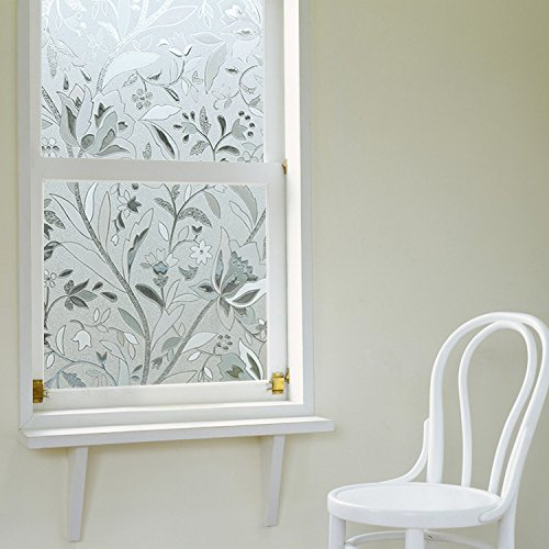 3D Static Decorative Frosted Privacy Window Films Non Adh...