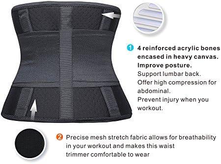 HLGO Women/'s Waist Trainer Belt  Shaperx Body Belly Warp Slimmer Compression For