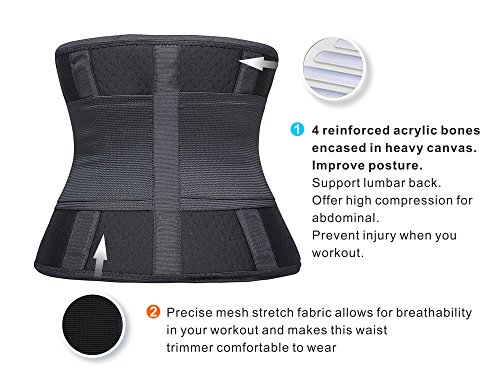 40650029b0 SHAPERX Camellias Women s Waist Trainer Belt Waist Training Corset Waist  Cincher Slimming Body Shaper for an