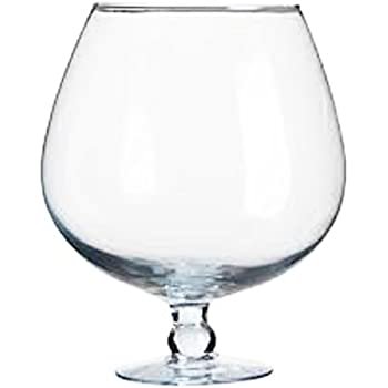 Amazon Giant Snifter Oversized Decoratable Clear Glass Cognac