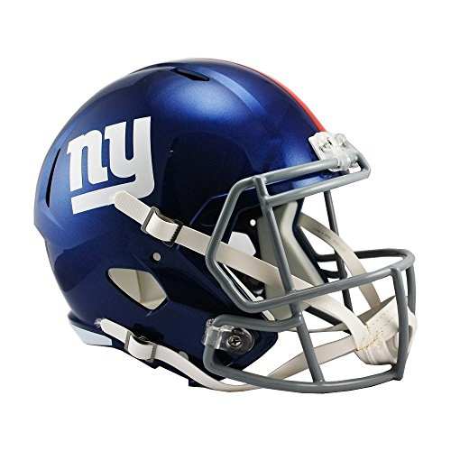 (NFL New York Giants Riddell Full Size Replica Speed Helmet, Medium,)
