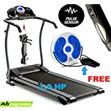 """ABEXCEED® FOLDING TREADMILL 3 LEVELS MANUAL INCLINE ELECTRIC FOLDING TREADMILL WITH MP3 INPUT AND BUILT-IN SPEAKERS LED DISPLAY RUNNING MACHINE MOTORISED TREADMILL 1.0 HP MOTOR WEIGHT LOSING MACHINE COMES WITH """"FREE"""" AEROBIC TWIST DISC"""