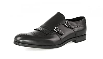 f7ee394723c34 Amazon.com | Prada Men's 2OF002 Black Full Brogue Leather Business ...