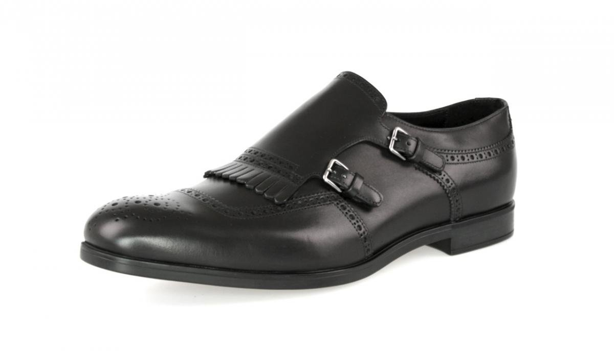 Prada Men's 2OF002 Black Full Brogue Leather Business Shoes EU 10 (44) / US 11 by Prada