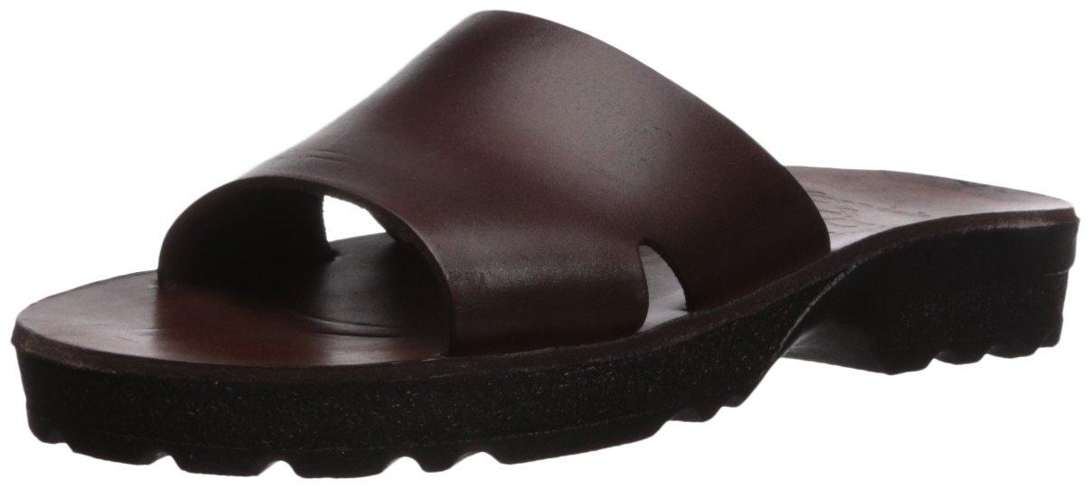 Jerusalem Sandals Women's Bashan Molded Footbed Slide Sandal B075KYR493 37 Medium EU (6-6.5 US) Brown