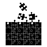 Black Puzzle Pieces Pattern - Large - Custom Vinyl Wall Art Decal for Homes, Offices, Kids Rooms, Nurseries, Schools, High Schools, Colleges, Universities, Interior Designers, Architects, Remodelers