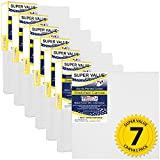 US Art Supply 12 x 12 inch Super Value Quality Acid Free Stretched Canvas 7-Pack - 3/4 Profile Primed Gesso (Super Value Pack of 7 Canvases)