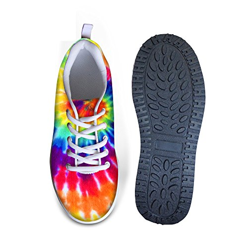 Ups Shoes Galaxy Sneakers Comfort Colorful Shape 3 Platform Walking Women's HUGSIDEA XwPdBxtX