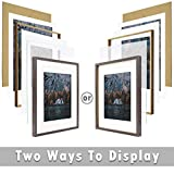 Frametory, 16x20 Frame for 11x14 Photo Smooth Wood