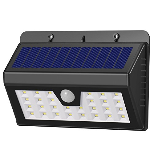Dephen 28 LED Solar Lights Outdoor, 3 Optional Modes Wireless Motion Sensor Light, IP65 Waterproof, Easy-to-install Security Lights for Front Door, Yard, Garage, Deck, Porch
