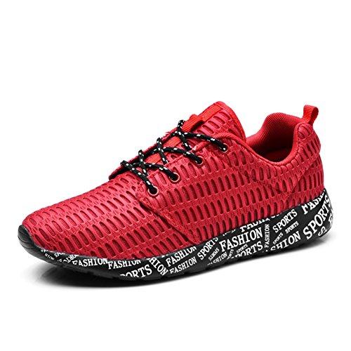 Deportes de verano y zapatos de ocio/los zapatos corrientes respirables/Zapatos de matrimonio Rojo