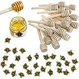 3 Inch Wood Honey Dipper Sticks and Honeybee