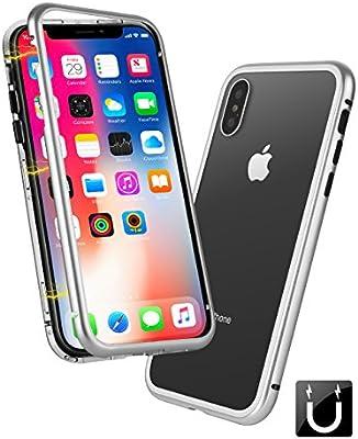 13700f6e9f iPhone Xケースの電話ケース、アップル携帯電話シェル磁気ドロップ保護スリーブ、
