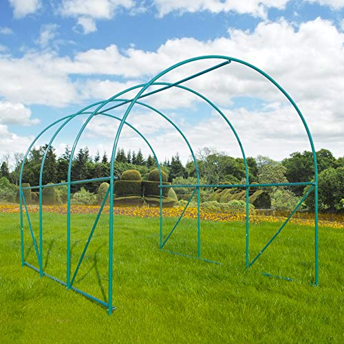 GOJOOASIS Greenhouse Walk-in Green Garden Hot House Outdoor Large Portable Arch Gardening Plant Shed (10'x7'x7') by GOJOOASIS (Image #5)