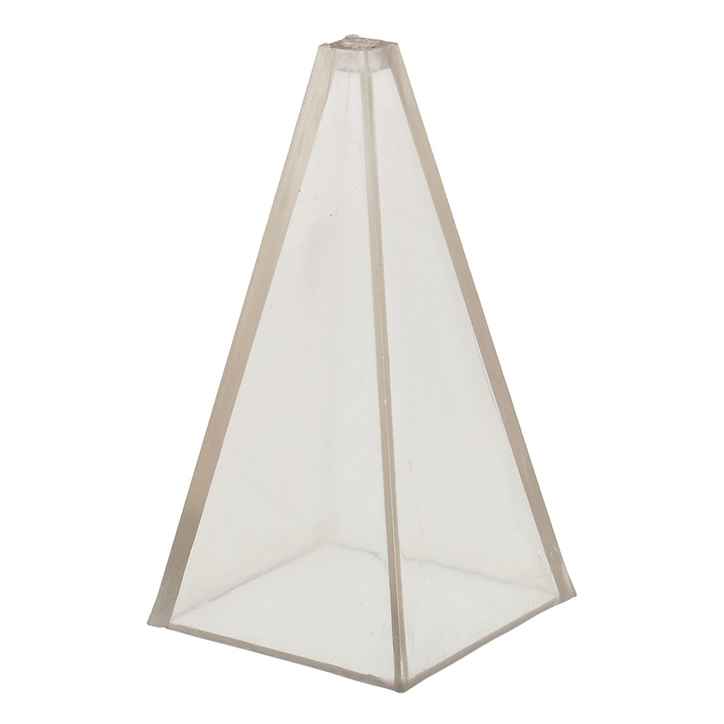 MagiDeal Muffa della Candela in Plastico a Forma di Piramide Attrezzi di Fai Da Te - 5x5x10 cm