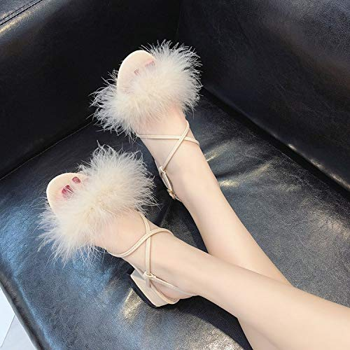 La Mode Cm Sandales Bretelles Boucles cinq t tudiante Femmes Kphy 4 Blanc Croix Chaussures Cheveux Riz Trente vwz7US