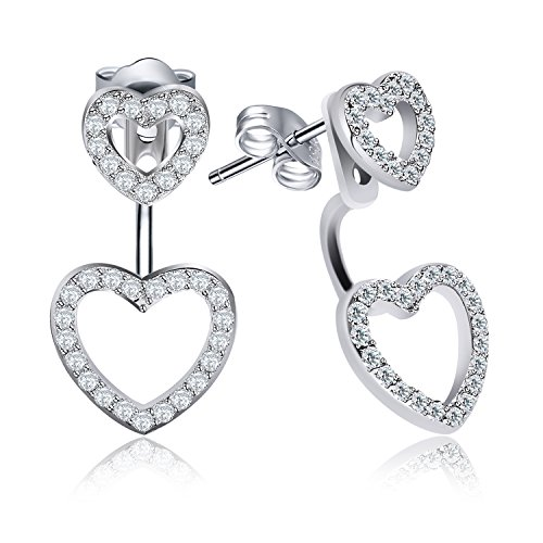 "Jewelry Sterling Silver Love Hearts Studs J.rosée ""double Layer Hearts"" Heart-shaped Studs Earrings"