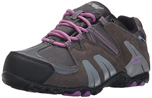 Hi Tec Waterproof Heels - Hi-Tec Aitana Low Waterproof JR Hiking Shoe (Toddler/Little Kid/Big Kid), Charcoal/Grey/Orchid, 7 M US Big Kid