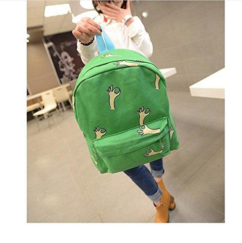 Honeysuck creative OK gesti zaino Zaino a spalla bag-green