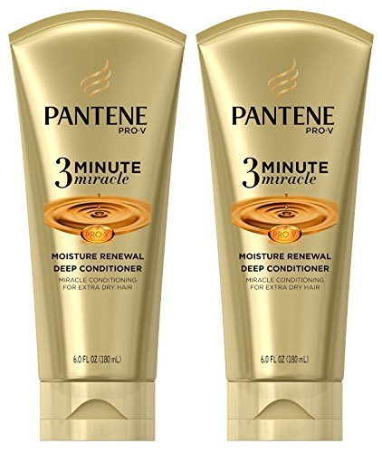Pantene Pro-V 3 Minute Miracle Moisture Renewal Deep Conditioner, 6 Ounce (2-Pack) (Pantene 3 Minute Miracle Moisture Renewal Deep Conditioner)