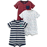 [Sponsored]Simple Joys by Carter's Boys' 3-Pack Snap-up Rompers