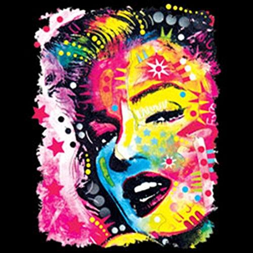 Neon Tank-Top für Marilyn Monroe Fans - Bedrucktes Achselshirt mit Neon-Bild als cooles Geschenk mit Model Stilikone