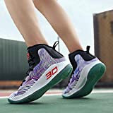 491265a353ff8 COSDN Womens Mens Fashion High-Top Basketball Shoes Lightweight Breathable  Youth Sports Running Sneakers Size 9.5/8 Purple