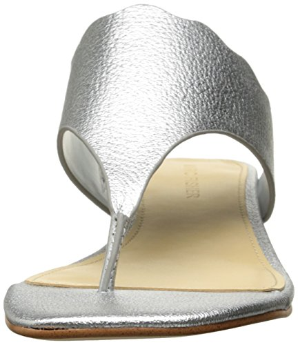 Delle Argento Casuale Veva Dividere Sandali Pelle Diapositive Donne Fisher I Marc In Di 1ZO65w