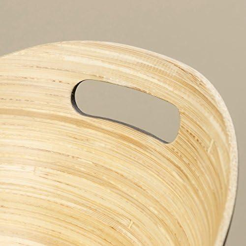 Home Collection Arredamento Decorazione Accessori Stoviglie Set di 3 Ciotole in Bamb/ù