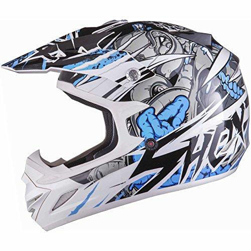 Shox MX-1 Scream Motocross MX Enduro Helm M Weiß/Blau