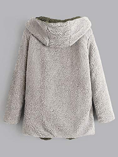 Gray Zaful Femme Cloud Longues Manteau Manches qnOw4BvH