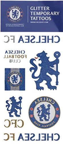 Official Chelsea FC Glitter Temporary Tattoos