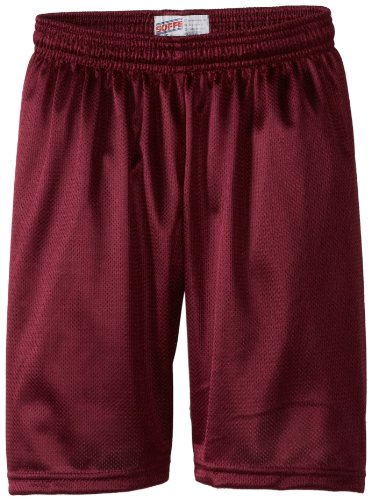 Soffe Big Boys' 7 Inch Poly Mini Mesh Short, Maroon, Large