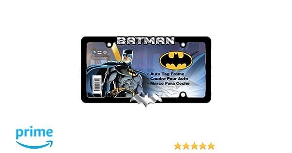 Amazon.com: DC Comics Chrome and Black Metal Batman License Plate ...