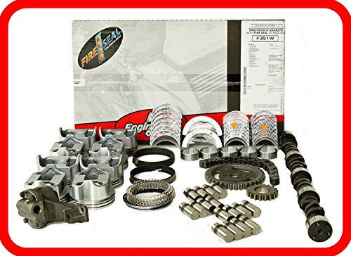 Master Engine Rebuild Kit FITS: 86-92 Chevrolet SBC 350 5.7L V8 w/Stage-1 HP Cam & Flat-Top Pistons (86 Camshaft Kit)