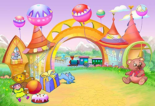 Yeele 10x8ft Fairy Tale Cartoon Arch Background for Photography Childhood Funfair Doll Photo Backdrop Birthday Baby Shower Party Decoration Boy Girl Portrait Booth Shoots Studio Props Wallpaper